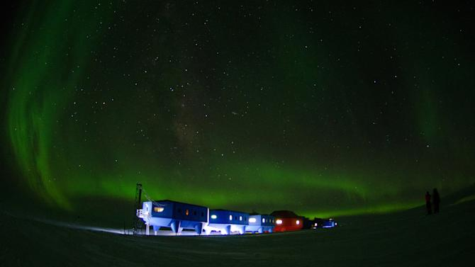 This April 2, 2012 photo released on Wednesday Feb. 6, 2013 by the British Antarctic Survey shows the Halley VI Research Station on the edge of the South Atlantic Ocean. Researchers say that Britain's new Antarctic base will be movable — capable of sliding across the ice on ski-clad stilts. The innovation will enable researchers to keep one step ahead of the southern continent's shifting ice and pounding snows. (AP Photo/Sam Burrell, British Antarctic Survey)