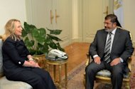 &lt;p&gt;Egyptian President Mohamed Morsi (R) meets with US Secretary of State Hillary Clinton (L) at the presidential palace in Cairo on July 14. Clinton held two hours of private talks with Christian leaders to hear their concerns about life under the new Egyptian leadership, much of which is drawn like Morsi from the Islamist Muslim Brotherhood.&lt;/p&gt;