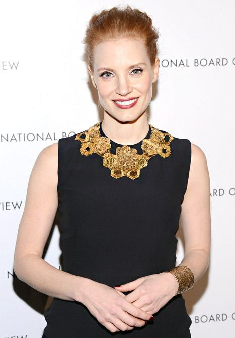 Jessica Chastain: I Haven't Picked My Golden Globes Dress Yet!