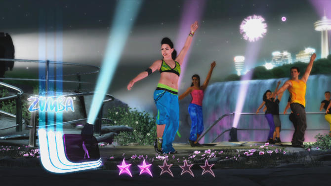 "This undated publicity photo provided by Majesco Entertainment shows the fitness video game, ""Zumba Fitness Core,"" Majesco for Xbox360 and Wii. (AP Photo/Majesco Entertainment)"