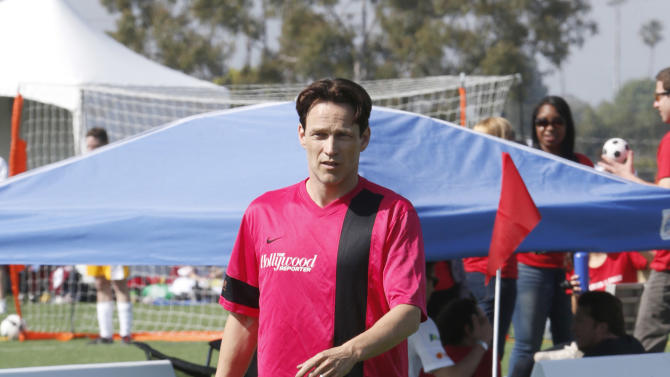 Stephen Moyer attends the LAFEST LA Film and Entertainment Soccer Tournament, on Sunday, March 24, 2013 in Carson, California. (Photo by Todd Williamson/Invision for THR/AP Images)