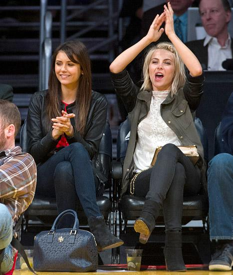Julianne Hough All Smiles at Lakers Game With Nina Dobrev After Ryan Seacrest Split