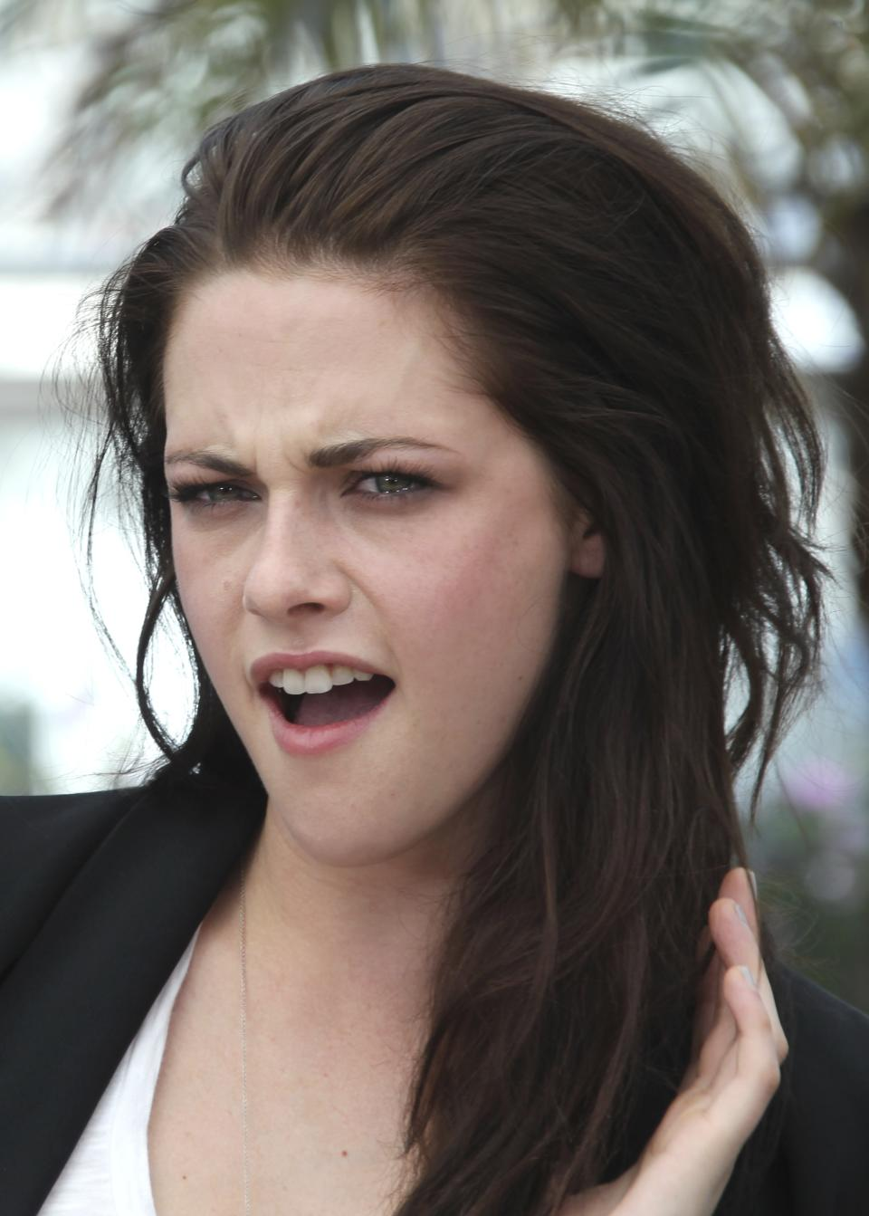 Actress Kristen Stewart poses during a photo call for On the Road at the 65th international film festival, in Cannes, southern France, Wednesday, May 23, 2012. (AP Photo/Joel Ryan)