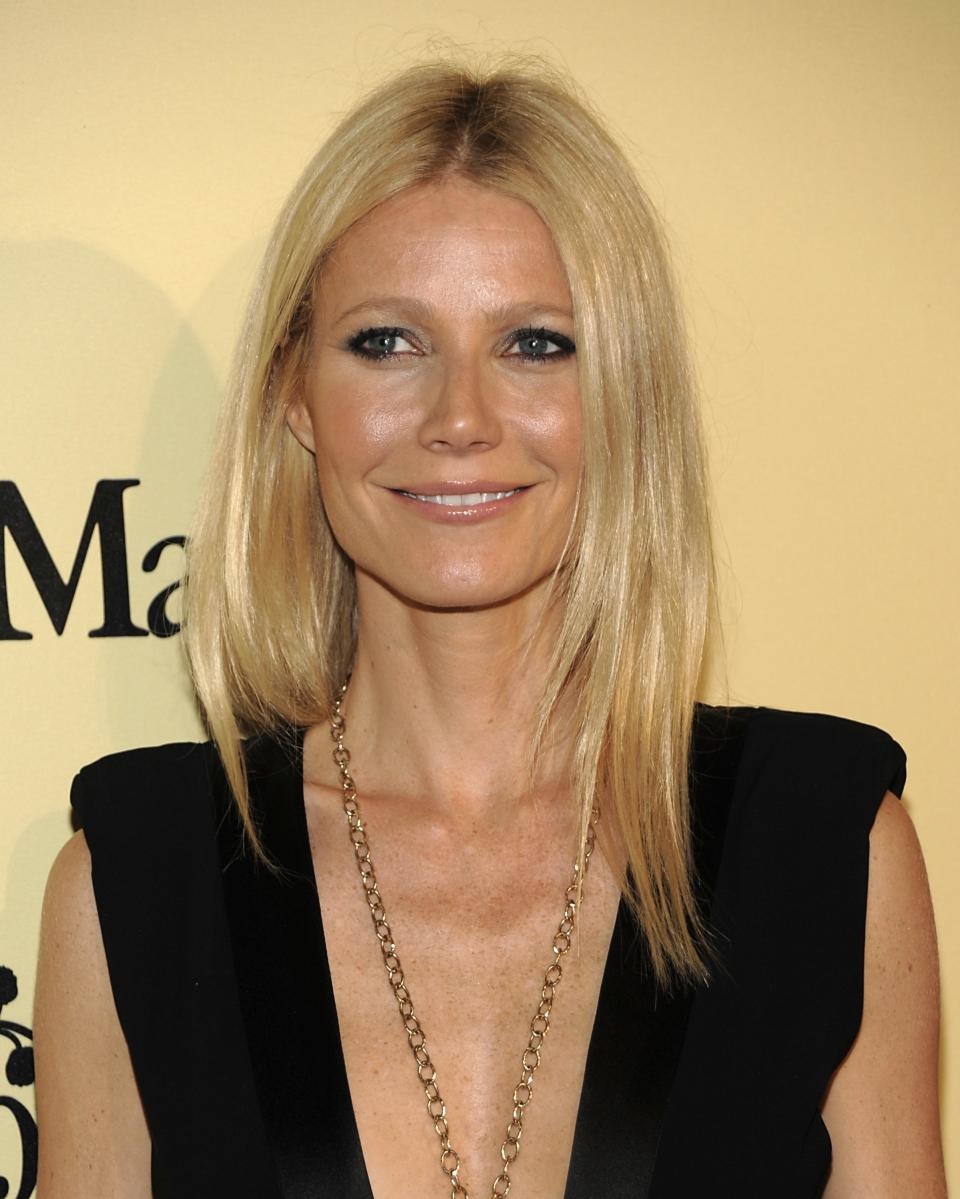 Actress Gwyneth Paltrow arrives at the Women In Film 2012 Academy Award Party in West Hollywood, Calif. on Friday, Feb. 24, 2012. (AP Photo/Dan Steinberg)