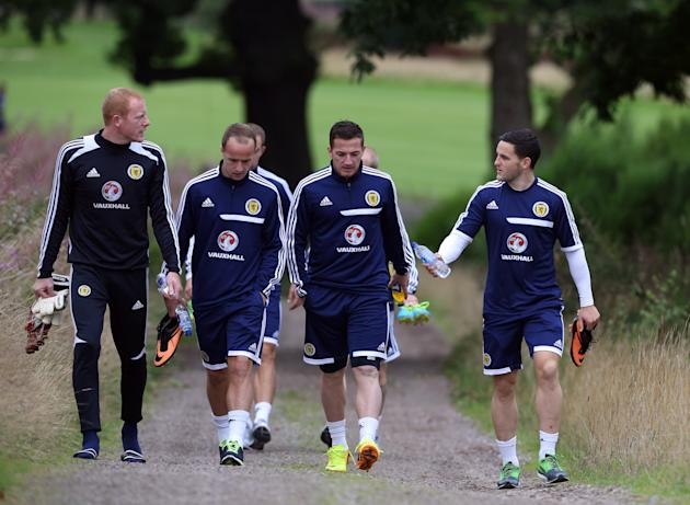 Soccer - Fifa World Cup Qualifying - Group A - Scotland v Belgium - Scotland Training Session and Press Conference - Mar Hall Hotel