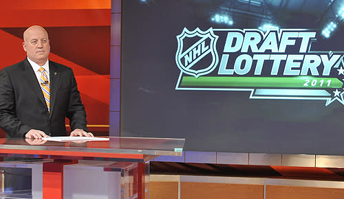 NHL deputy commissioner Bill Daly during the draft lottery