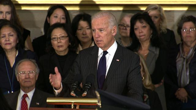 "Biden: Inouye ""made me proud to be a senator"""