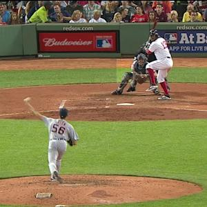 Castellanos throws out Bogaerts