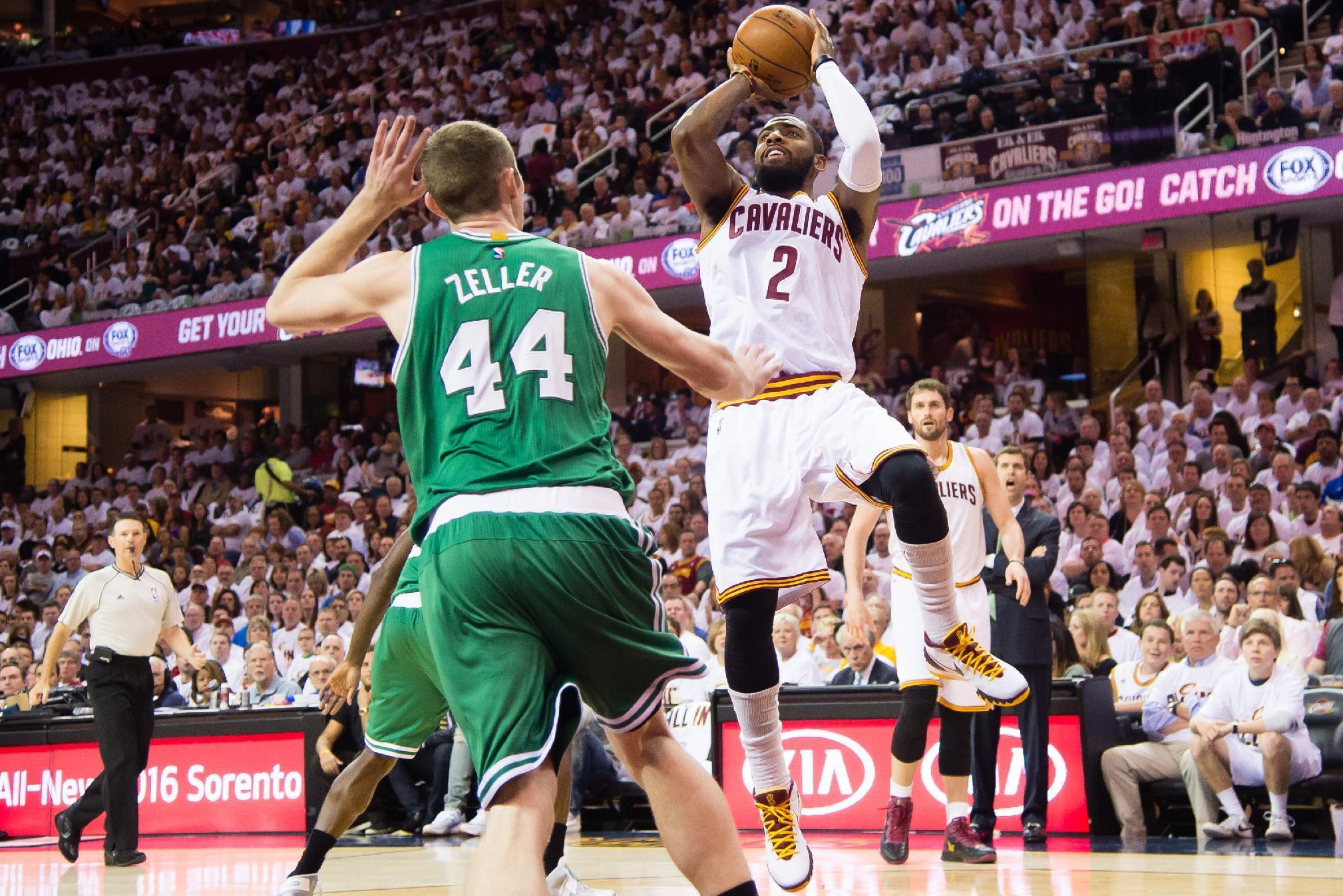 Kyrie Irving scores 30 in playoff debut to lead Cavs past Celtics in Game 1