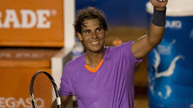 Rafael Nadal at the Acapulco International in Mexico (AFP)