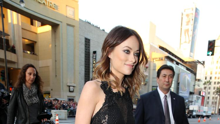 Olivia Wilde at New Line Cinema's World Premiere of 'The Incredible Burt Wonderstone' held at Grauman's Chinese Theatre on Monday, Mar., 11, 2013 in Los Angeles. (Photo by Eric Charbonneau/Invision for New Line Cinema/AP Images)