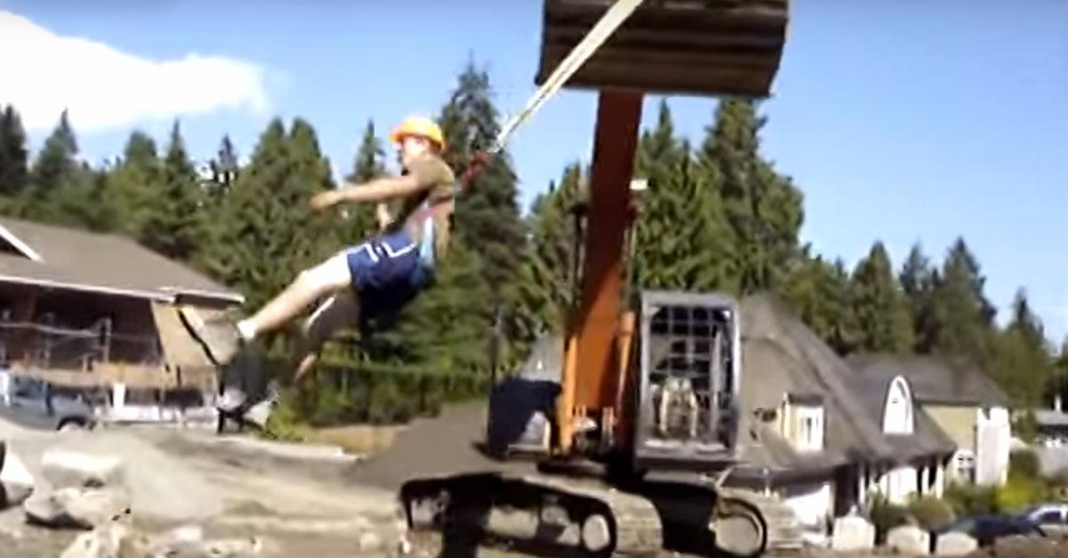 Crafty Workers Turn Job-Site Into Amusement Park!