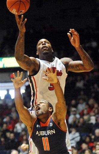 Henderson leads Mississippi past Auburn 88-55