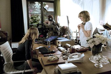 Kate Winslet and director/writer/producer Nancy Meyers on the set of Columbia Pictures' The Holiday