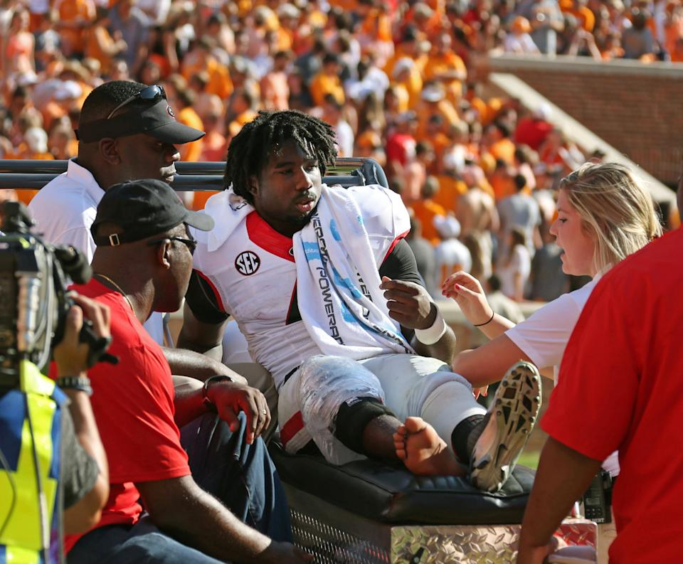 Injuries hurt Georgia at tailback, wide receiver