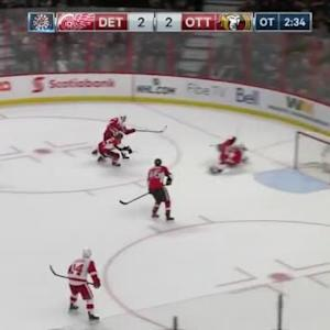 Craig Anderson Save on Darren Helm (02:28/OT)