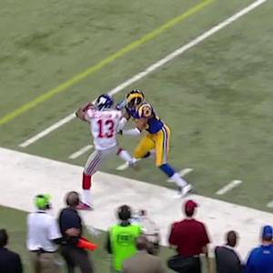 New York Giants wide receiver Odell Beckham and St. Louis Rams safety T.J. McDonald get heated
