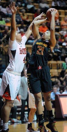 No. 10 Maryland women handle Va Tech