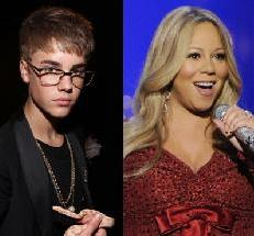 Justin Bieber, Mariah Carey -- Getty Images
