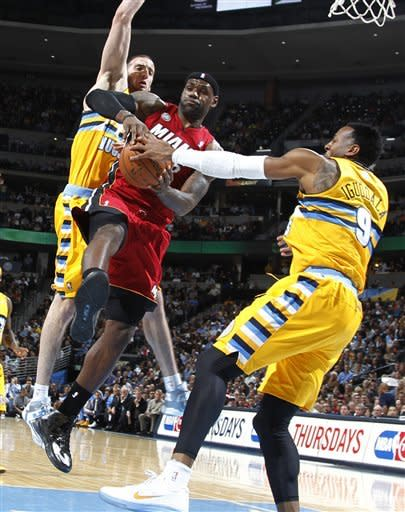 LeBron leads Heat past Nuggets 98-93