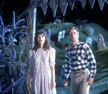 Geena Davis and Alec Baldwin in Geffen's Beetlejuice