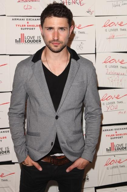 Matt Dallas attends Tyler Shields debut of MOUTHFUL presented by A/X Armani Exchange in support of LOVE IS LOUDER at a Private Studio on May 19, 2012 in Los Angeles -- Getty Images