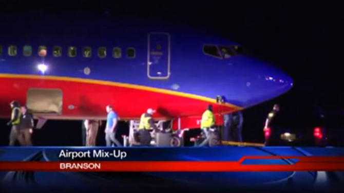 Southwest flight lands at wrong Mo. airport