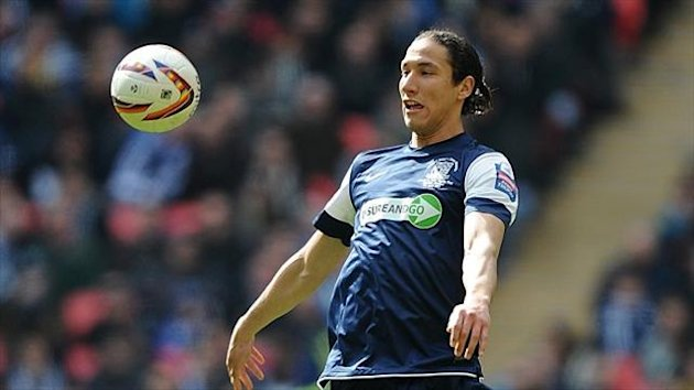 Bilel Mohsni played in Rangers' friendly defeat against Sheffield Wednesday