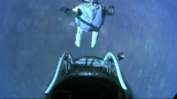 World's Highest Skydive! Daredevil Makes Record-Breaking Supersonic Jump