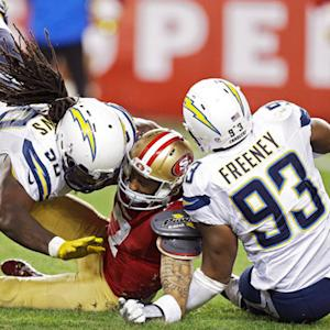 San Diego Chargers recover fumble in end zone for touchdown