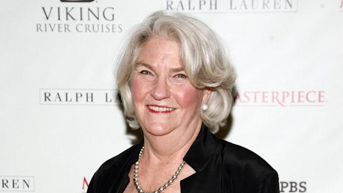 "FILE - This Dec. 12, 2012 file photo shows PBS Executive Producer Rebecca Eaton attending a ""Downton Abbey"" photo call, at the Essex House in New York. Eaton has a deal with Viking for ""Making Masterpiece: 25 Years Behind the Scenes of Masterpiece Theatre and Mystery!""  The publisher announced Wednesday, April 10, 2013, that the book will come out Oct. 29. Patricia Mulcahy will co-write ""Making Masterpiece."" (Photo by Andy Kropa/Invision/AP, file)"