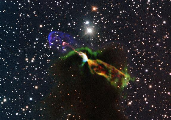 Star Birth Drama Captured by Giant Radio Telescope (Photos)