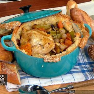 Dorie Greenspan serves up chicken in pot on THE Dish