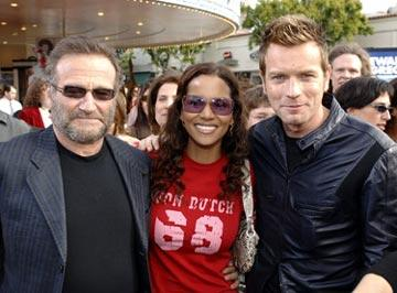 Robin Williams , Halle Berry and Ewan McGregor at the Westwood premiere of 20th Century Fox's Robots