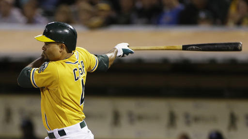 Athletics slip past Rays 2-1