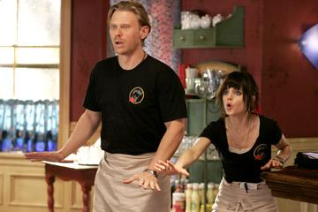 Mark Pellegrino and Mena Suvari in Streaming Hot Coffee's Caffeine