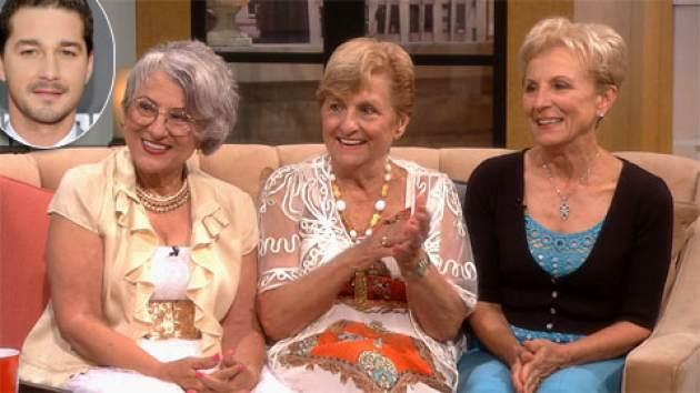 'Golden Sisters' stars Teresa, Mary and Josie on Access Hollywood Live on  May 22, 2013 (inset:Shia LaBeouf) -- Access Hollywood