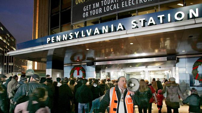 File photo of commuters entering Pennsylvania Station in New York during MTA strike