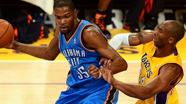 kevin durant, kobe bryant, los angeles lakers, oklahoma city thunder