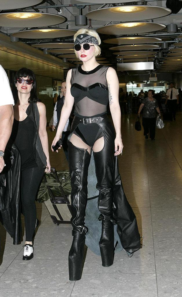 Lady Gaga Heathrow