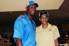 Former Heat star Alonzo Mourning and his son Alonzo Mourning III