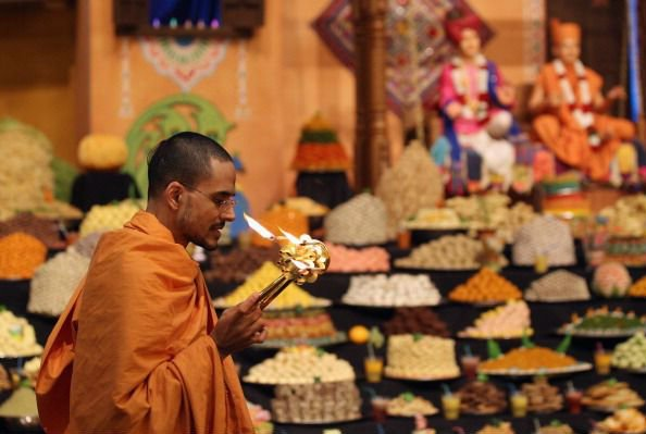 Puja being conducted during the festival.