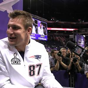 Best of Super Bowl XLIX Media Day: New England Patriots tight end Rob Gronkowski