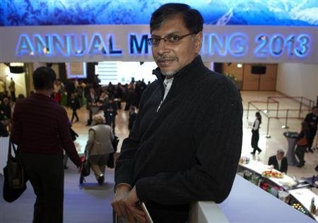 Phaneesh Murthy, president and CEO of iGate, poses during the World Economic Forum (WEF) in Davos