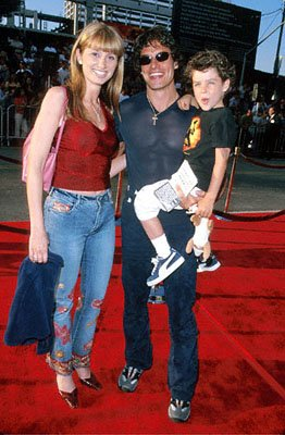 Antonio Sabato Jr. with his family at The Chinese Theater premiere of Paramount's Mission Impossible 2