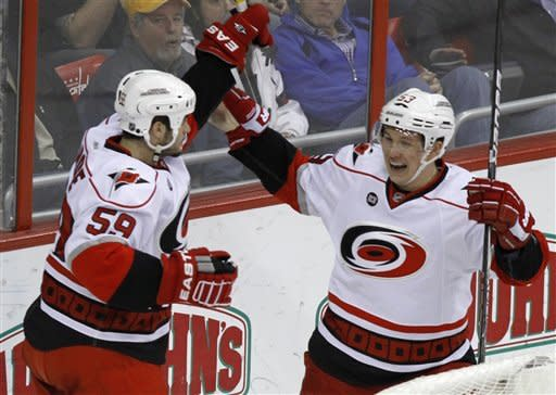 Hurricanes beat Capitals 4-3 in OT
