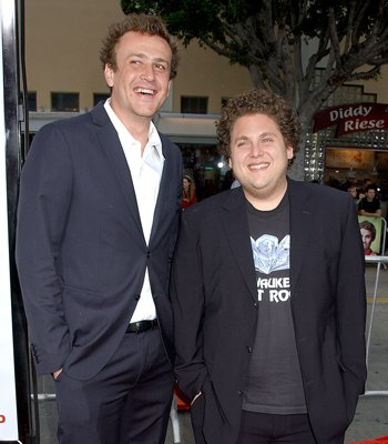 Jason Segel and  Jonah Hill at the Westwood premiere of Universal Pictures' Knocked Up