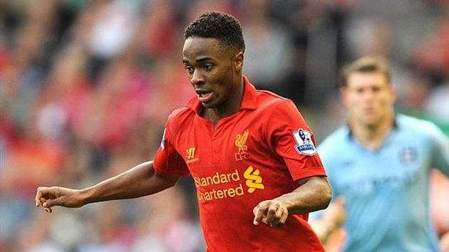 2012 Raheem Sterling in action for Liverpool
