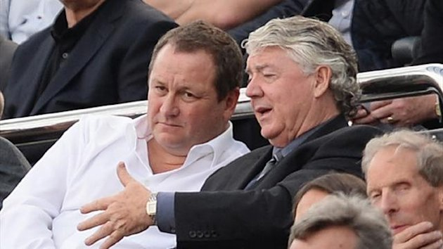 Newcastle owner Mike Ashley with Joe Kinnear (Reuters)