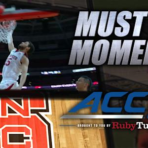 NC State's Martin Brothers Connect for Dunk | ACC Must See Moment